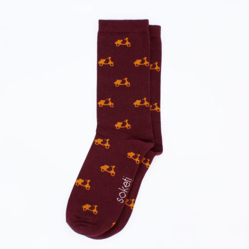 chaussettes originales bordeaux