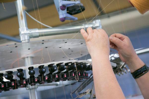 atelier de fabrication chaussettes