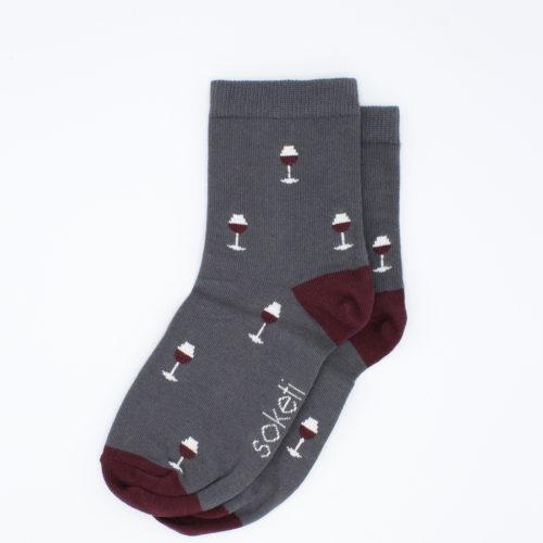 chaussettes vin gris