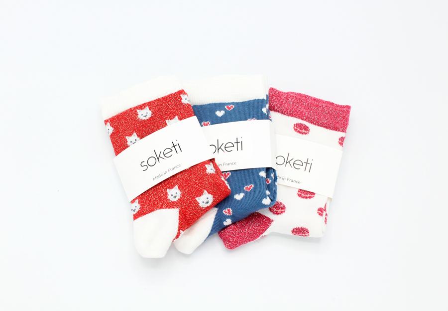 chaussettes brillantes
